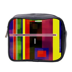 Abstract Art Geometric Background Mini Toiletries Bag 2-Side