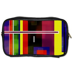 Abstract Art Geometric Background Toiletries Bags
