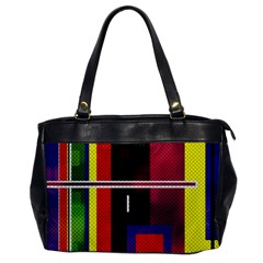 Abstract Art Geometric Background Office Handbags