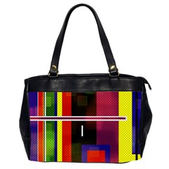 Abstract Art Geometric Background Office Handbags (2 Sides)