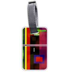 Abstract Art Geometric Background Luggage Tags (Two Sides)