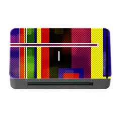 Abstract Art Geometric Background Memory Card Reader with CF