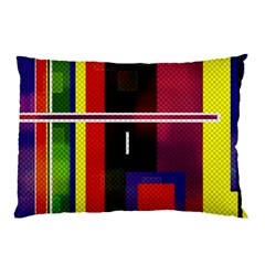 Abstract Art Geometric Background Pillow Case (Two Sides)