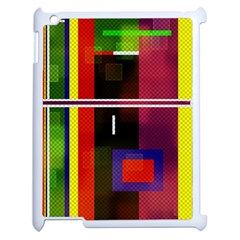 Abstract Art Geometric Background Apple iPad 2 Case (White)