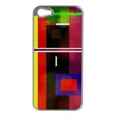 Abstract Art Geometric Background Apple Iphone 5 Case (silver)