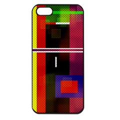 Abstract Art Geometric Background Apple Iphone 5 Seamless Case (black)