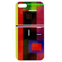 Abstract Art Geometric Background Apple Iphone 5 Hardshell Case With Stand