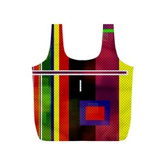 Abstract Art Geometric Background Full Print Recycle Bags (s)