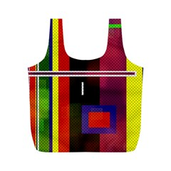 Abstract Art Geometric Background Full Print Recycle Bags (m)