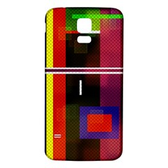 Abstract Art Geometric Background Samsung Galaxy S5 Back Case (White)