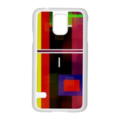 Abstract Art Geometric Background Samsung Galaxy S5 Case (white)
