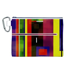 Abstract Art Geometric Background Canvas Cosmetic Bag (l)