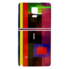 Abstract Art Geometric Background Galaxy Note 4 Back Case