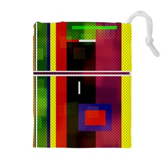 Abstract Art Geometric Background Drawstring Pouches (Extra Large)