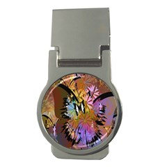 Abstract Digital Art Money Clips (Round)