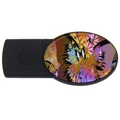 Abstract Digital Art USB Flash Drive Oval (4 GB)