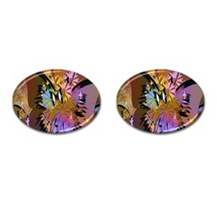Abstract Digital Art Cufflinks (Oval)