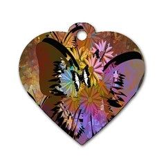 Abstract Digital Art Dog Tag Heart (Two Sides)