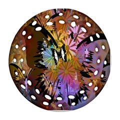 Abstract Digital Art Round Filigree Ornament (Two Sides)