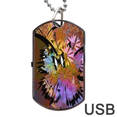 Abstract Digital Art Dog Tag USB Flash (One Side)