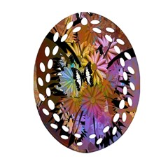 Abstract Digital Art Oval Filigree Ornament (two Sides)