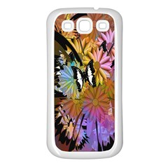 Abstract Digital Art Samsung Galaxy S3 Back Case (White)