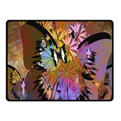 Abstract Digital Art Double Sided Fleece Blanket (small)