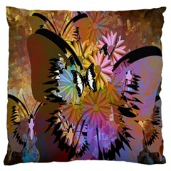 Abstract Digital Art Large Flano Cushion Case (One Side)