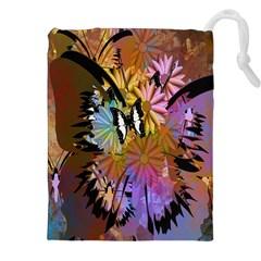 Abstract Digital Art Drawstring Pouches (XXL)