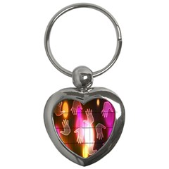 Abstract Background Design Squares Key Chains (Heart)