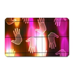 Abstract Background Design Squares Magnet (Rectangular)