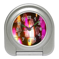 Abstract Background Design Squares Travel Alarm Clocks
