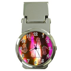 Abstract Background Design Squares Money Clip Watches