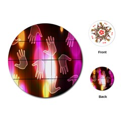 Abstract Background Design Squares Playing Cards (Round)