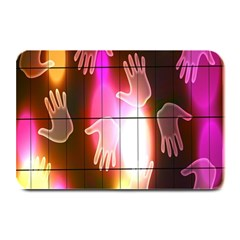 Abstract Background Design Squares Plate Mats