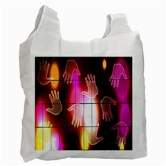 Abstract Background Design Squares Recycle Bag (One Side)