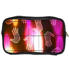 Abstract Background Design Squares Toiletries Bags