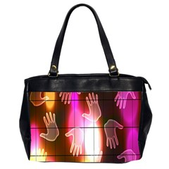 Abstract Background Design Squares Office Handbags (2 Sides)