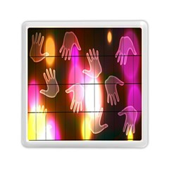 Abstract Background Design Squares Memory Card Reader (Square)