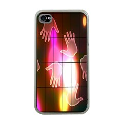 Abstract Background Design Squares Apple iPhone 4 Case (Clear)
