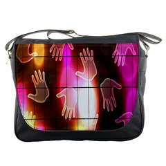 Abstract Background Design Squares Messenger Bags