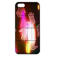 Abstract Background Design Squares Apple Iphone 5 Seamless Case (black)