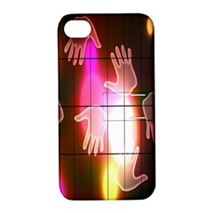 Abstract Background Design Squares Apple Iphone 4/4s Hardshell Case With Stand