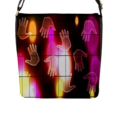 Abstract Background Design Squares Flap Messenger Bag (l)
