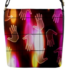 Abstract Background Design Squares Flap Messenger Bag (s)