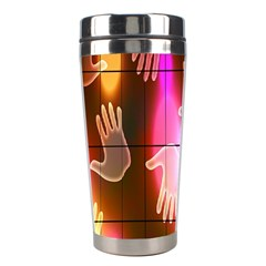 Abstract Background Design Squares Stainless Steel Travel Tumblers