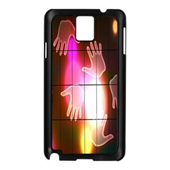 Abstract Background Design Squares Samsung Galaxy Note 3 N9005 Case (black)