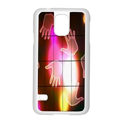 Abstract Background Design Squares Samsung Galaxy S5 Case (white)