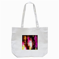 Abstract Background Design Squares Tote Bag (White)