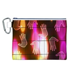 Abstract Background Design Squares Canvas Cosmetic Bag (l)